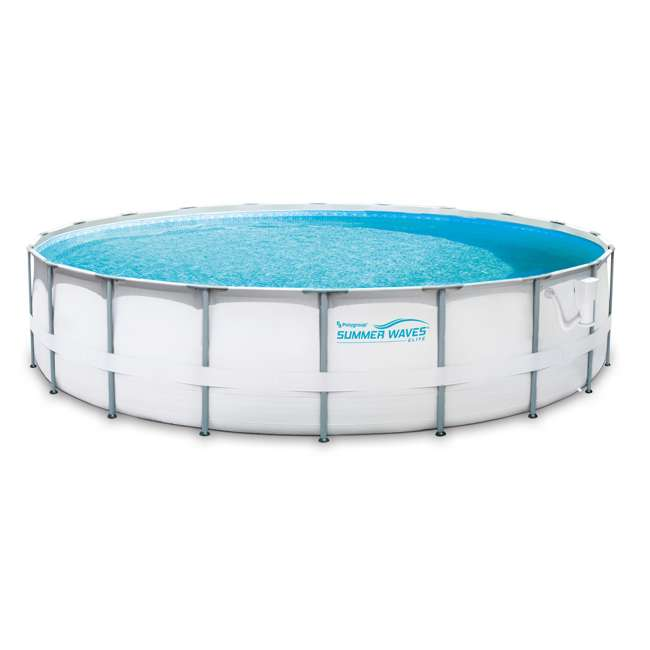Summer waves elite 20 foot frame pool set with filter pump for Summer waves above ground pool review