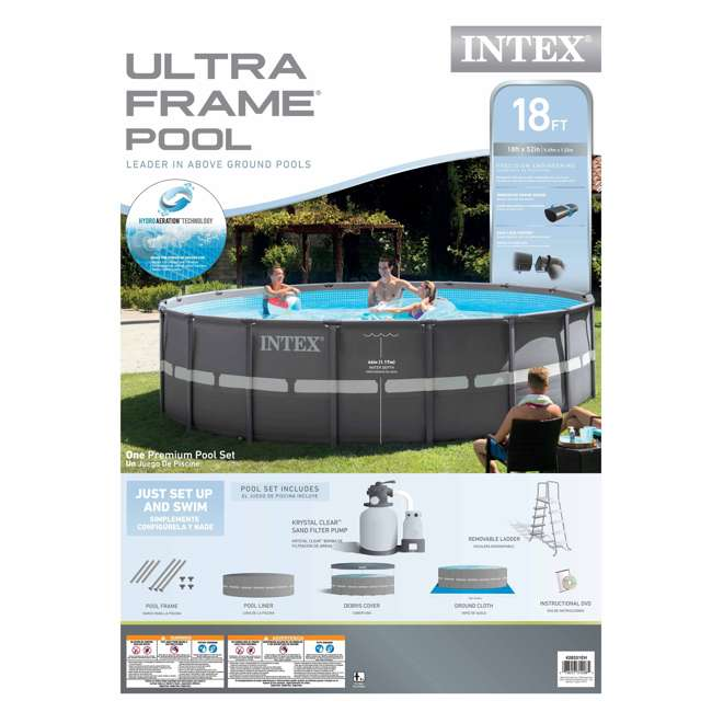 Intex 18 39 X 52 Ultra Frame Swimming Pool Set With Filter Pump 28331eh