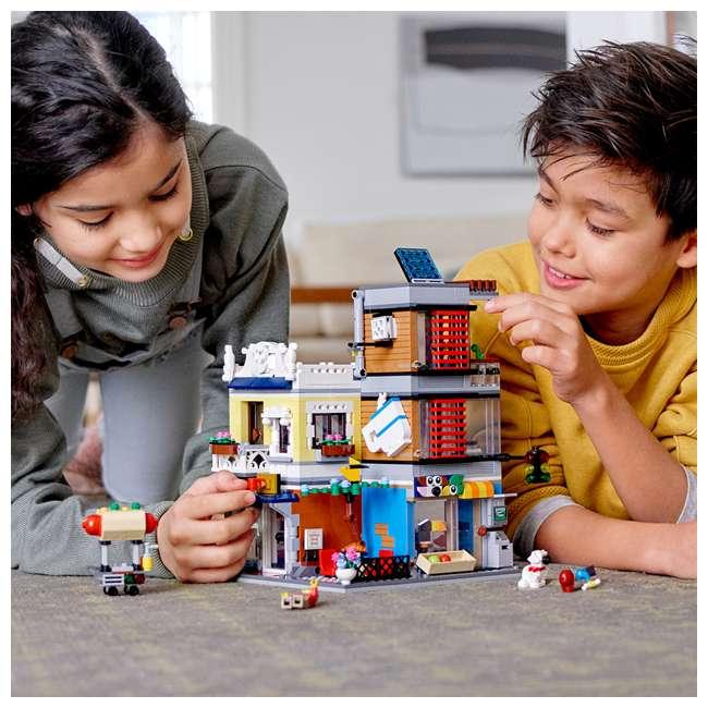6250798 LEGO 31097 3-in-1 Townhouse Pet Shop & Cafe Block Building Kit w/3 Minifigures 6