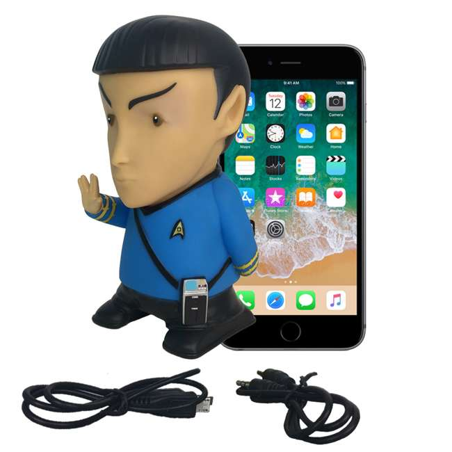 FT-SPK-U-B Fametek Star Trek Mr. Spock 6-Inch Wireless Bluetooth Speaker w/ 9 Quotes (Used) 5