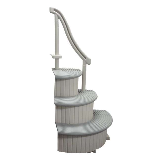 Confer Grey Curve 3 Step In Ground Swimming Pool Entry