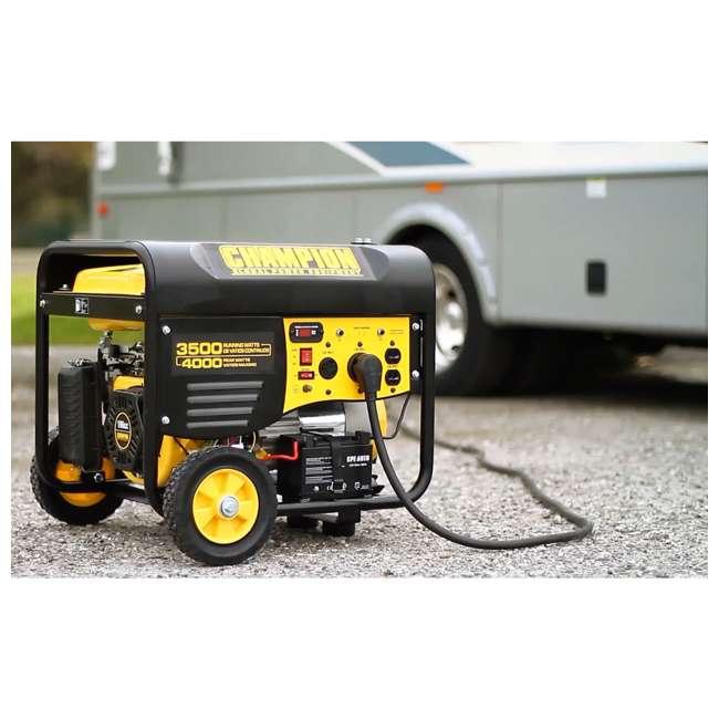 CPE-GN-46565 Champion 46565 Portable Wheeled Electric Start Gas Powered 3500 Watt Generator 1