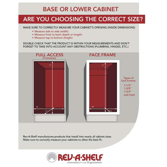 5PSP-15-CR Rev-A-Shelf 5PSP-15-CR 15 Inch Chrome Blind Corner Kitchen Cabinet Organizer 7