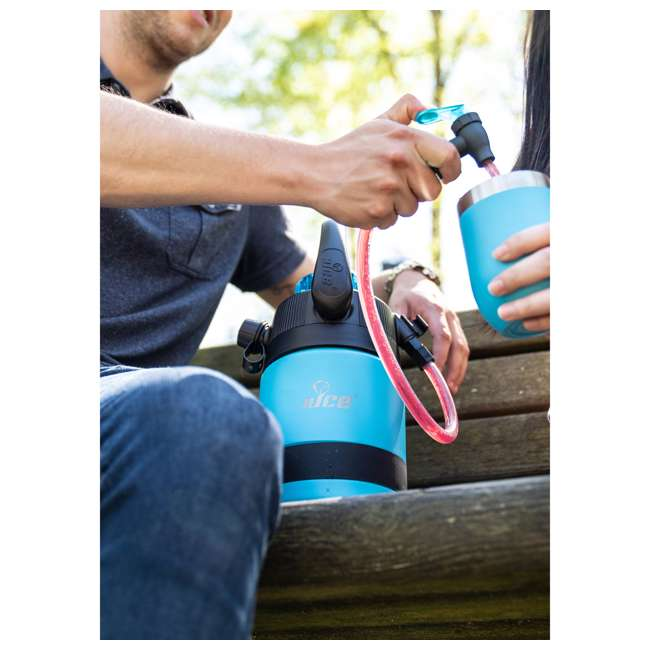 TPF-518735 nICE Coolers Pump2Pour 1 Gallon Insulated Jug with Hose and Spout, Miami Blue 4