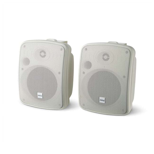 PDWR54BTW Pyle PDWR54BTW Bluetooth 600W Waterproof 5.25-Inch Powered Outdoor Speakers (Pair)