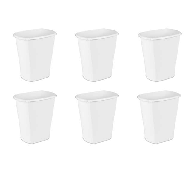12 x 10538006 Sterilite 10538006 10 Gallon White Ultra Plastic Wastebasket Trash Can (12 Pack) 1