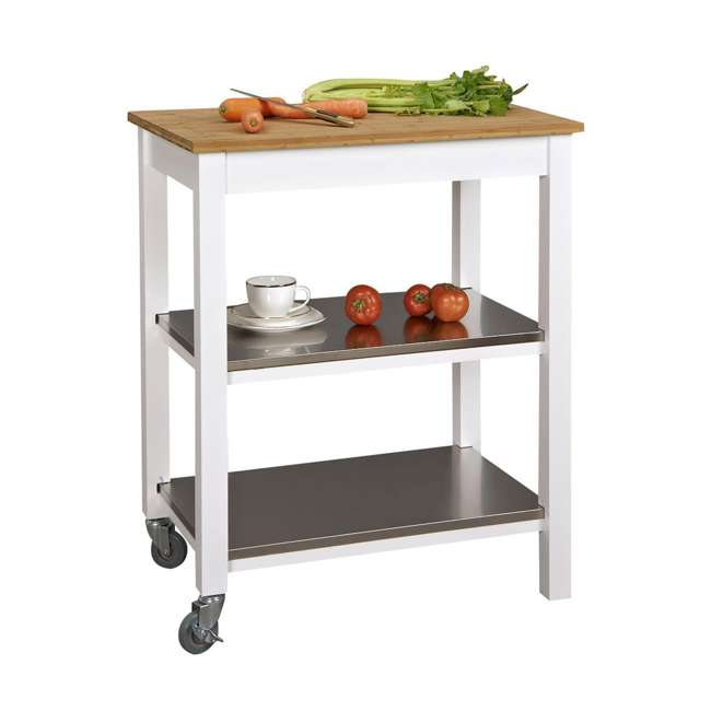 CSK-850 SpaceMaster Kitchen Cart with Bamboo Chopping Block  1