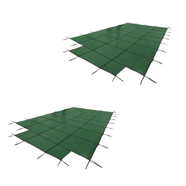 DG204058S Yard Guard 20 x 40 Feet w/ 8 Feet Center End Steps Pool Cover, Green (2 Pack)
