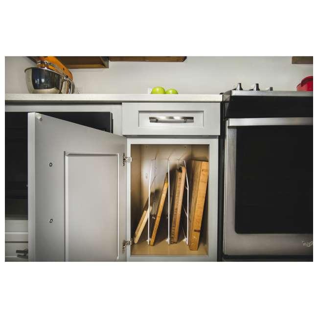 597-18-52 Rev-A-Shelf 597-18-52 18 Inch Bakeware Wire Kitchen Cabinet Organizer, White 1