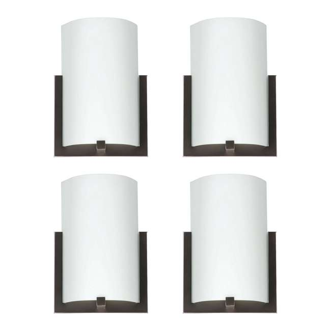4 x PLC-FL0003870 Philips Forecast 12-Inch Bow 3-Light Wall Sconce, Bronze (4 Pack)