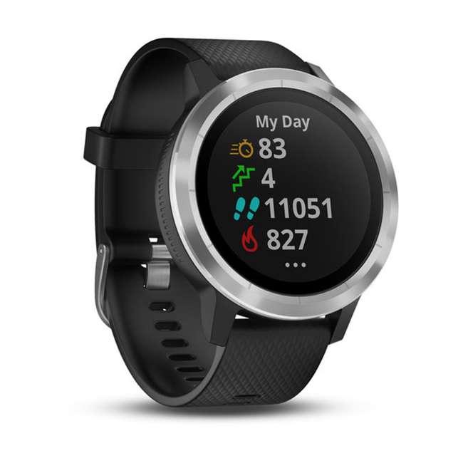 010-01769-01 Garmin Vívoactive 3 Active Smartwatch, Black with Silver 3