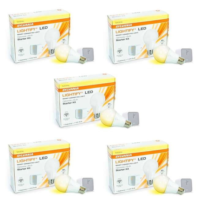 5 x SYL-71932 Sylvania Lightify LED Smart WIFI Connection Gateway A19 Bulb Starter Kit 5 Pack