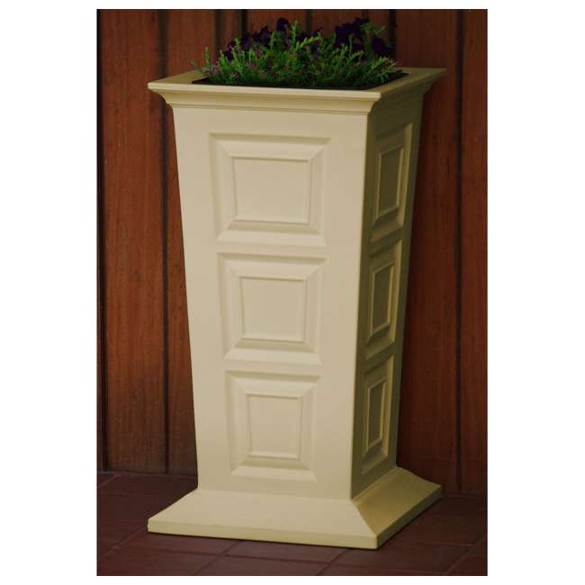 SV-P-SAN Good Ideas Savannah Outdoor Self Watering Colonial Planter Stand, Sandstone 2