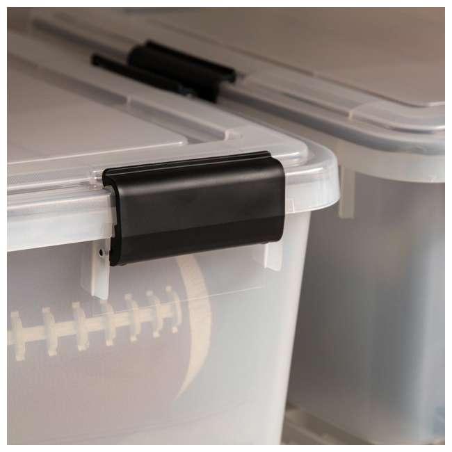110400 IRIS USA 110400 30.6 Quart Weathertight Plastic Storage Container Box, Clear 3