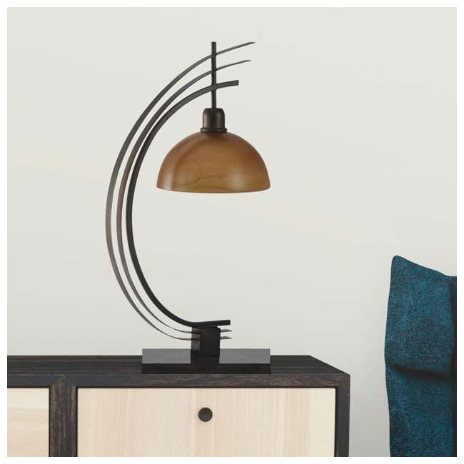 SC-L313895 Abode 84 Bronze Arc Metal Accent Lamp with Glass Globe 3