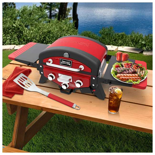 VT280RDS Smoke Hollow Vector Series 2-Burner Portable Gas Grill with Folding Side Table 3