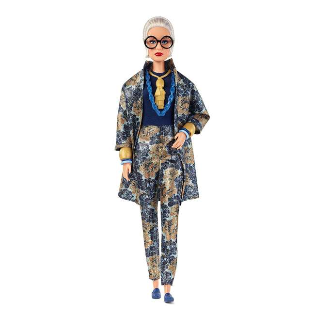 FWJ28 Barbie Collector Styled by Iris Apfel Doll with Multi-Hued Vest and Accessories