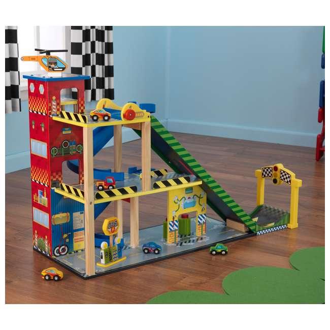 63267-U-A KidKraft Kids Mega Ramp Racing Set for Matchbox and Hotwheels Cars (Open Box) 8