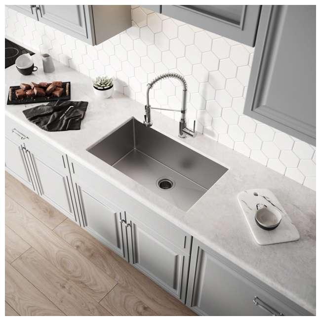 "KHU100-30-OB KRAUS Standart PRO 30""  Undermount Single Stainless Steel Sink (OPEN BOX) 2"