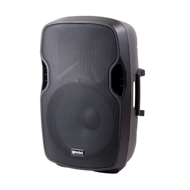 "AS-15P + STL100 Gemini AS-15P Professional Portable 15"" Active Speaker & LED 68"" Speaker Stand 1"