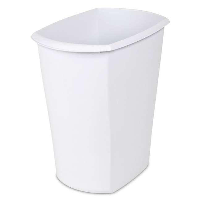 6 x 10528006-U-A Sterilite 5.5 Gallon White Ultra Plastic Wastebasket Trash Can(Open Box)(6 Pack) 1