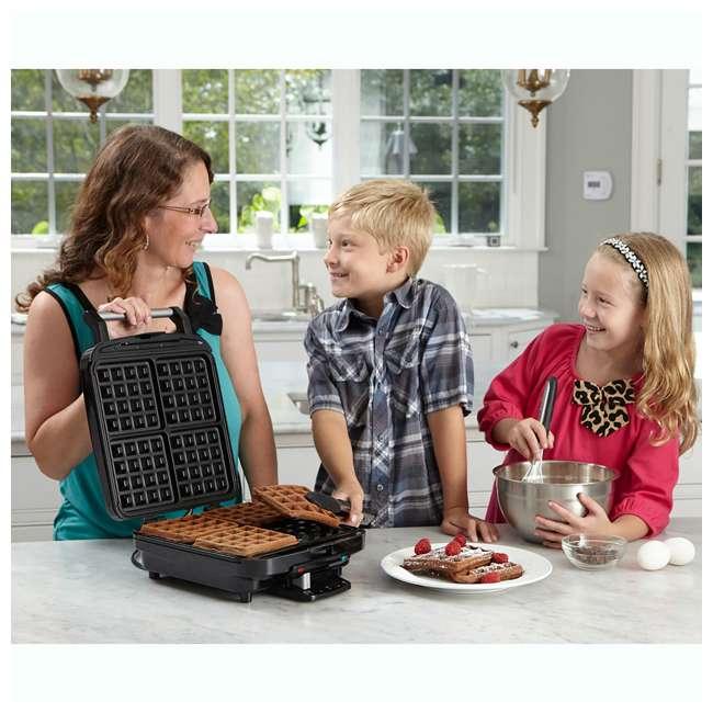 WAF-150-RB Cuisinart 4 Slice Belgian Waffle Maker (Certified Refurbished) (2 Pack) 5