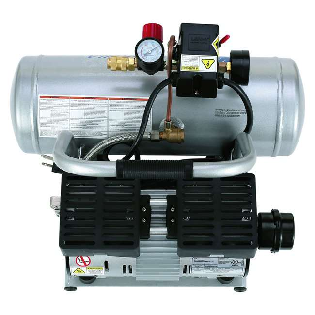 2010A 1 HP 2 Gal Ultra Quiet & Oil-Free Air Compressor 4