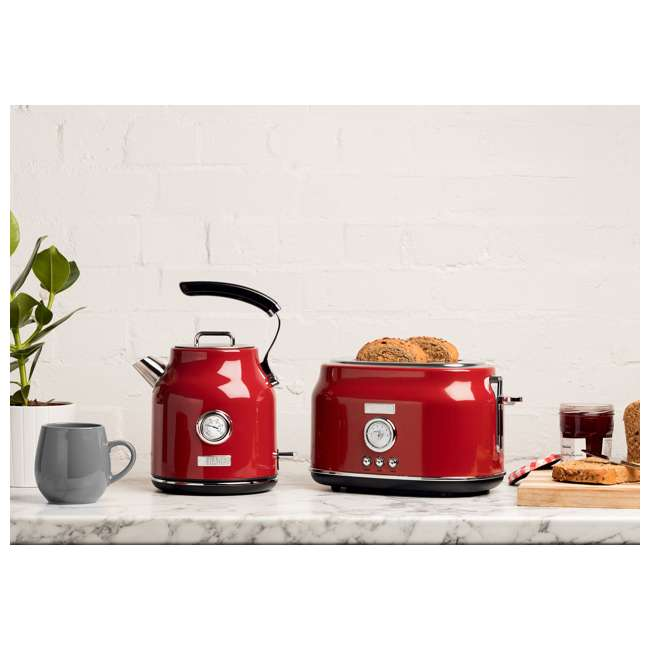75000 + 75001 Haden Stainless Steel Retro Toaster & 1.7 Liter Stainless Steel Electric Kettle 3