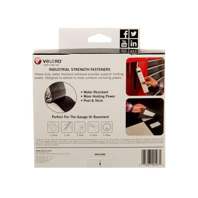 90197 Velcro Industrial Strength 2 Inch Hook and Loop Fastener 15 Foot Roll, Black 3