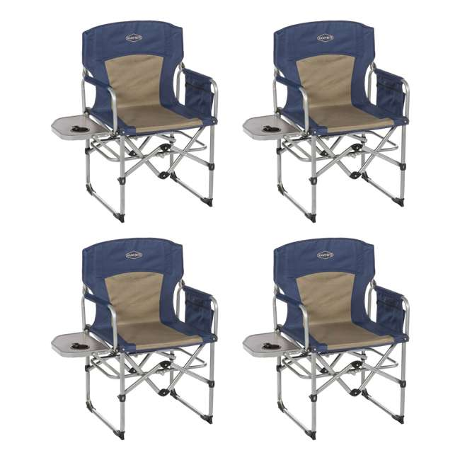 4 X Cc403 Kamp Rite Compact Folding Outdoor Camping Director S Chair With Side Table