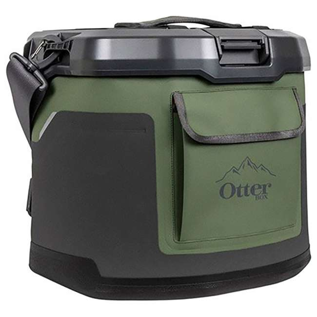 77-60673 OtterBox Trooper IP66 Leakproof Seal Portable 12 Quart Insulated Cooler, Green 3