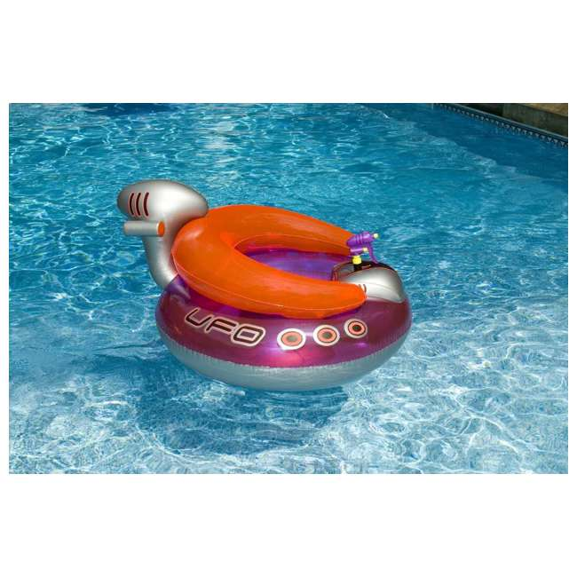 90705 + 9078 Swimline Peacock Giant Pool Float & UFO Lounge Chair Float w/ Squirt Gun 6