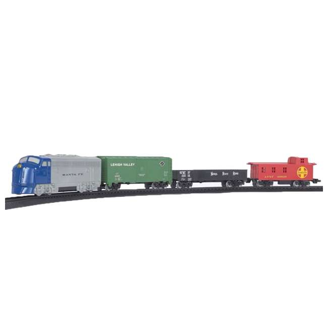 00957 Bachmann Industries 24-Piece HO Scale Battery Operated Rail Express Kid Train Set with Sound, Blue