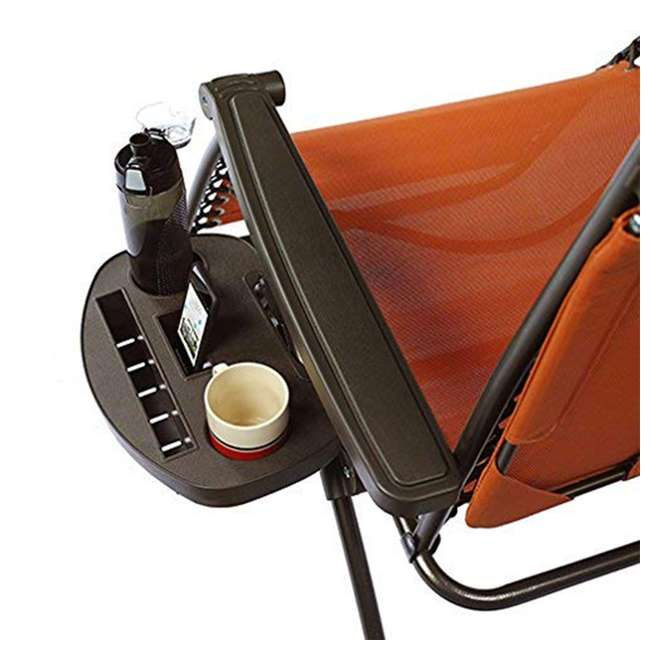 GFC-439TC Bliss Hammocks GFC-439TC 26 Inch Zero Gravity Chair with Canopy and Tray, Orange 1