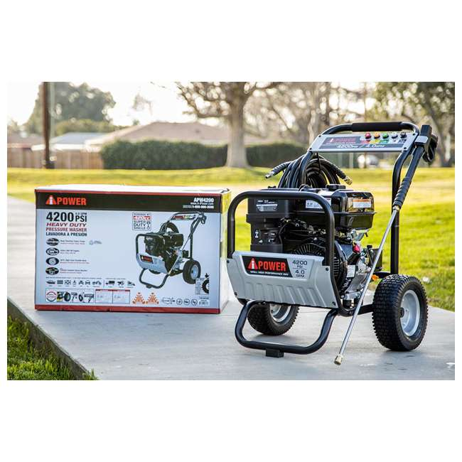 APW4200 A-iPower APW4200 4,200 PSI at 4.0 GPM Pump Pressure Washer 4