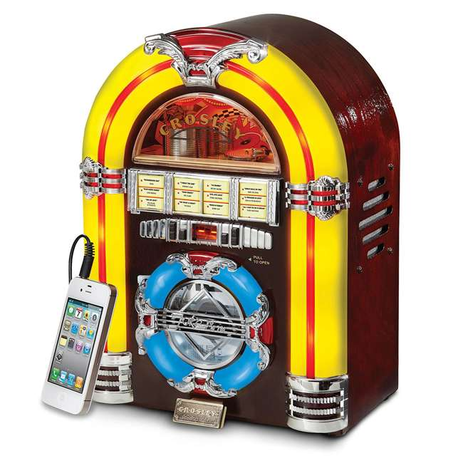 CR1101A-CH Crosley LED Tabletop Jukebox CD Player 3