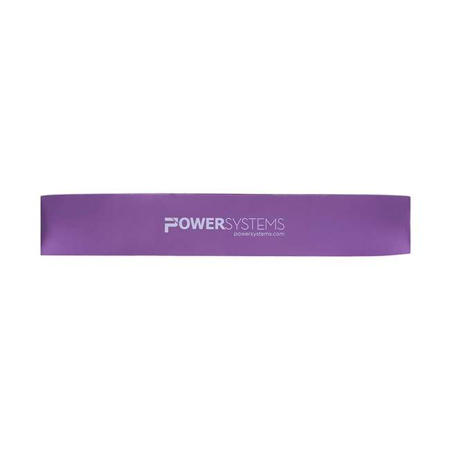 84964 Power Systems 12 Inch Versa Loop Extra Heavy Purple Resistance Bands, Pack of 10
