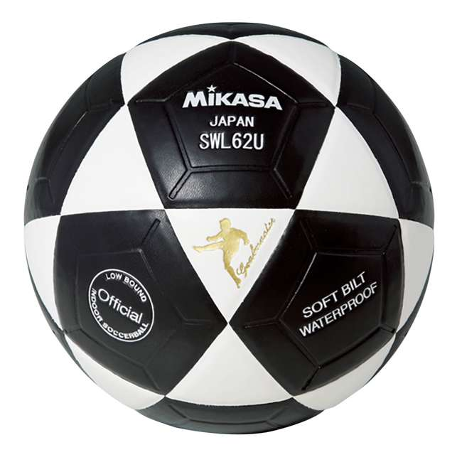 SWL62-BY + SWL62-YBK + SWL62-WBK Mikasa Leather Futsal Indoor Soccer Ball with 2 Mini Balls 5