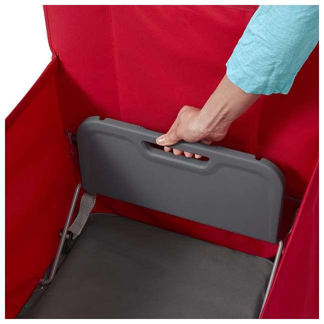 3965Z Radio Flyer Kid & Cargo 2 Seat Folding Wagon, Red 6