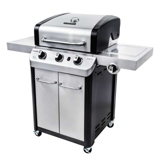 463372017-U-C Char Broil 3 Burner Stainless Steel 425 Square In Propane Gas Grill (For Parts) 6