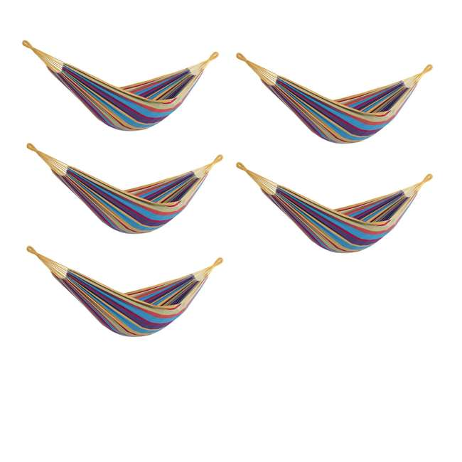 5 x BRAZ220 Vivere Brazilian Tropical 2-Person Hammock (5 Pack)