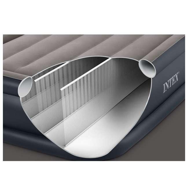 64131W Intex Deluxe Pillow Rest Air Mattress w/ Pump, Twin (2 Pack) 5