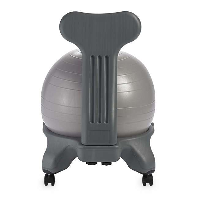 05-62215-U-C Gaiam Classic Gym Yoga Fitness Balance Ball Office Desk Chair, Gray (For Parts) 2