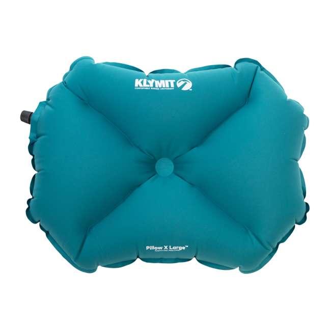 12PLTL01D Klymit Pillow X Large Soft Inflatable Camping Pillow, Teal 1
