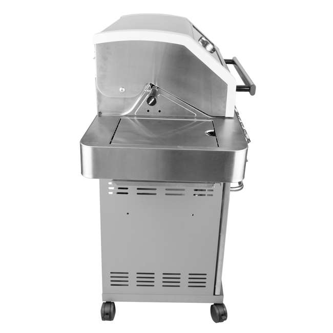 MG-35633 Monument Grills Clearview Lid 4 Burner w/Side Sear Burner Propane Grill (2 Pack) 4