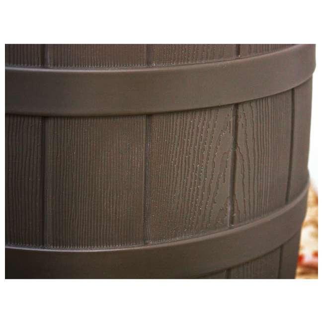 RW50-OAK-U-A Good Ideas 50 Gallon Rainwater Collection Barrel Drum, Oak (OpenBox) (2 Pack) 2