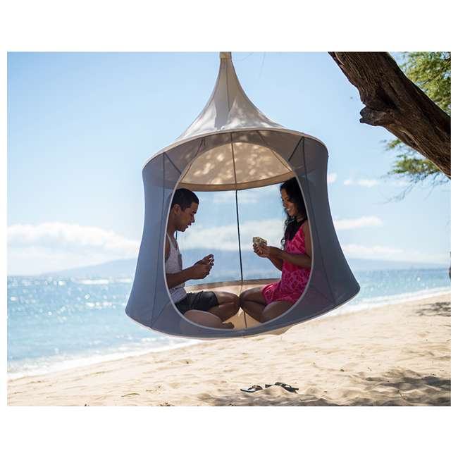 TP1600GR TreePod Cabana Lightweight Heavy Duty Lounger 6 Foot Hanging Daybed, Graphite 1