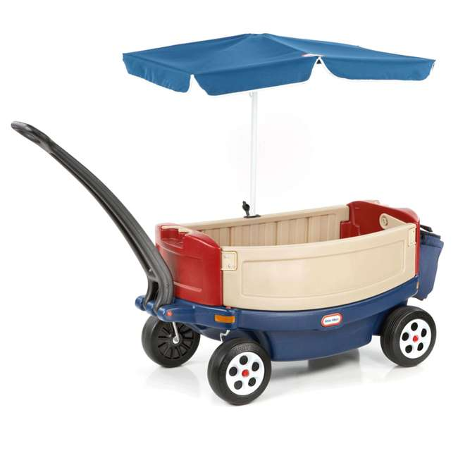 618031M-U-B Little Tikes Kids Ride and Relax Toy Pull Wagon with Umbrella and Cooler (Used)