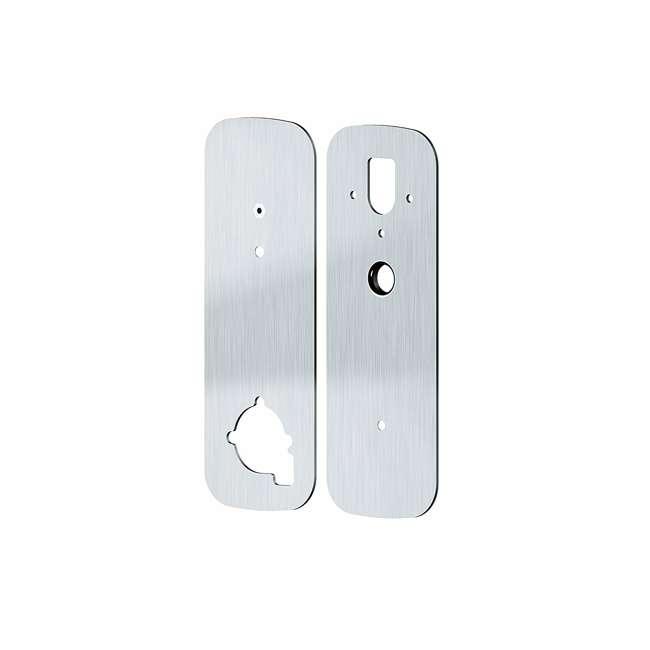 PGA006SN Lockly Deadbolt Lock Cover Plate Accessory for Secure Smart Lock, Satin Nickel 1