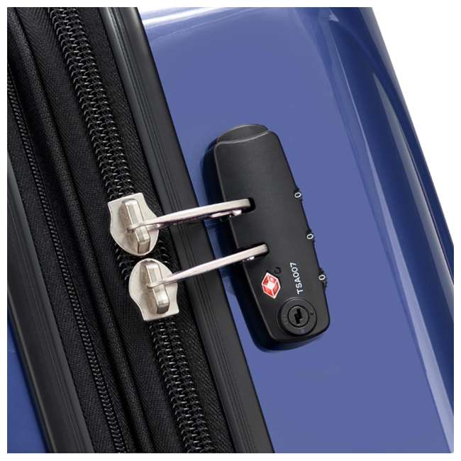 "07647BD DELSEY Paris Aero 25"" Lightweight Hardside Expandable Rolling Travel Bag, Blue 6"